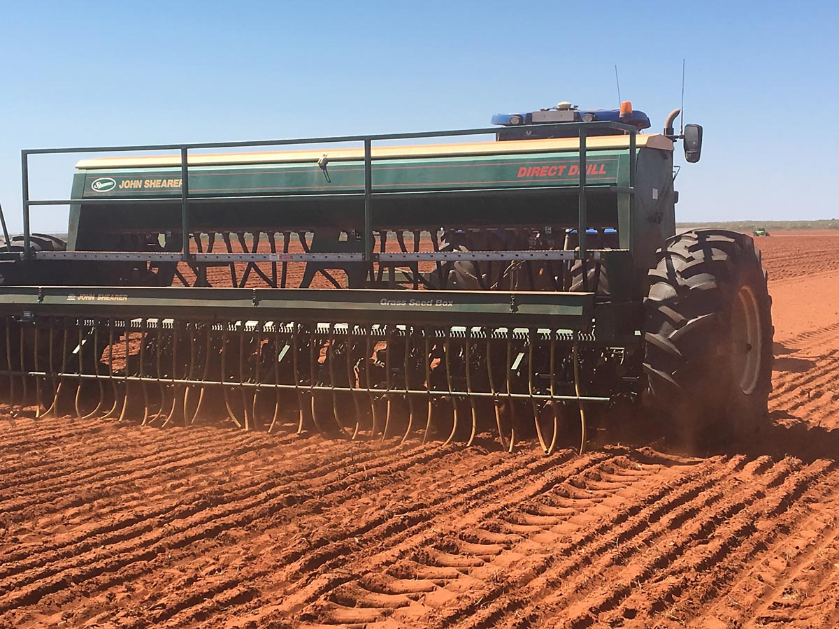 John Shearer 33 Row 2 bin 6 Rank Direct Drill with Grass Seed Box